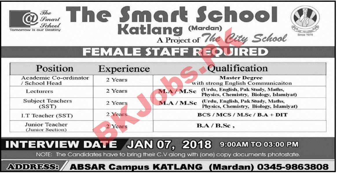 The Smart School Mardan Jobs for Academic Coordinator Teachers ...